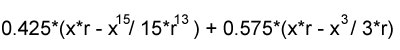 circle function approximation integral